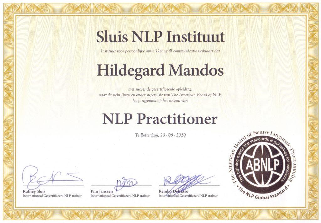 NLP Practitioner Hildegard Mandos